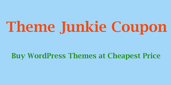 theme junkie coupon