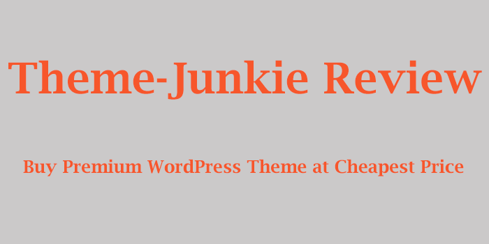theme junkie review